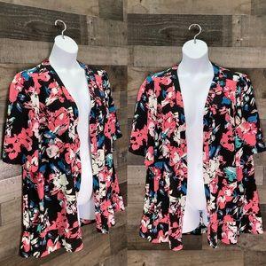 Lane Bryant Floral Print Kimono